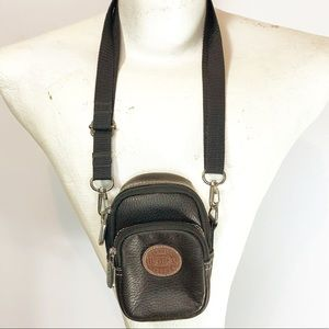 Roots belt bag & crossbody brown leather 2 pockets